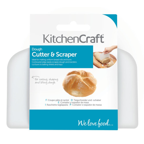 Dough cutter and scraper.