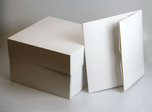 Square white cake box