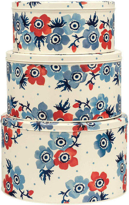 Anemone round set of 3 cake tins