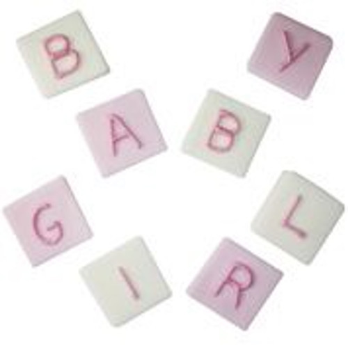 Baby girl blocks sugarcraft toppers