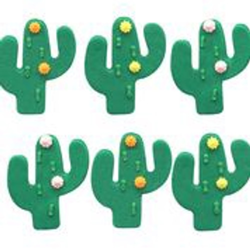 Cactus sugarcraft cake toppers