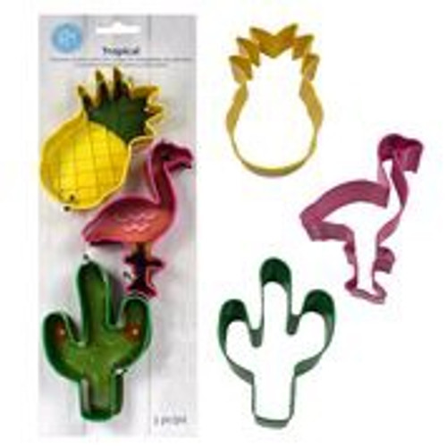 Tropical themed cutter set of 3