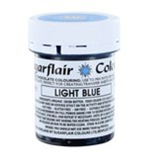 Chocolate colouring light blue