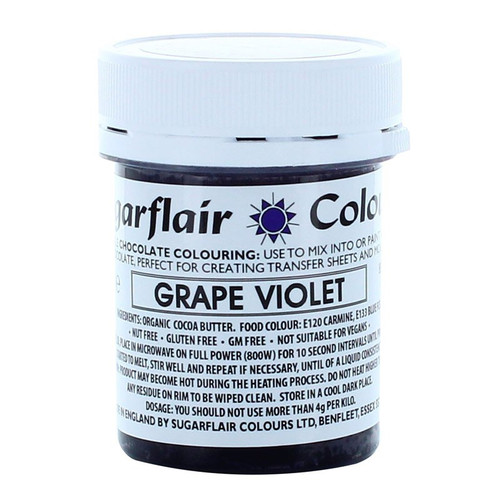 Chocolate colouring grape violet