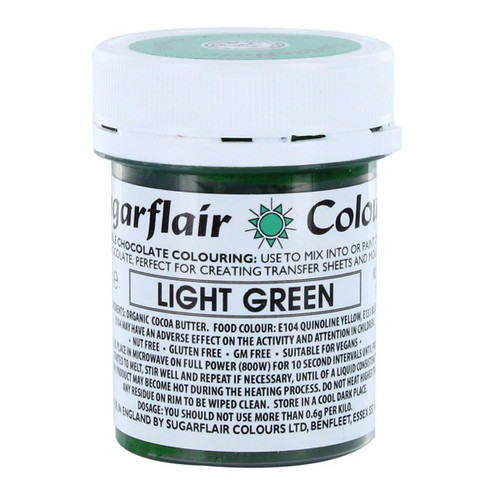 Chocolate colouring light green