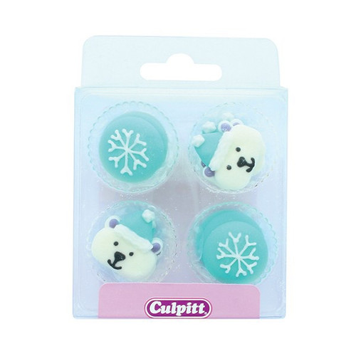 Arctic Christmas sugar decorations. 12 pieces