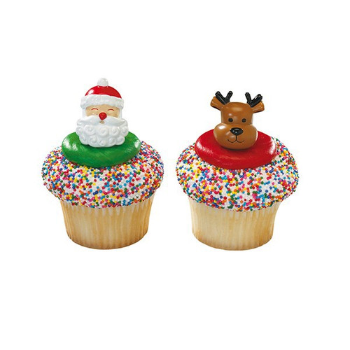 Christmas ring cake toppers
