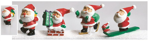 Assorted large plastic Santa