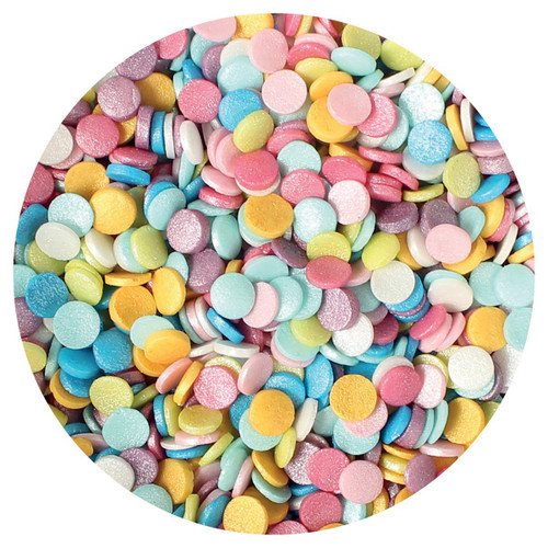 Edible multi-coloured confetti 70g