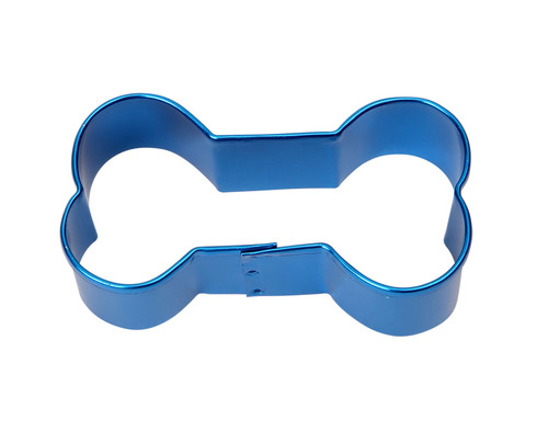 Blue bone cookie cutter