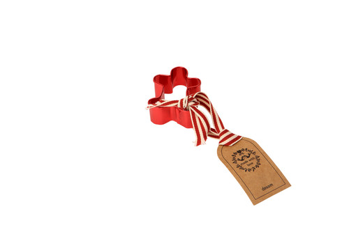 Small red gingerbread man cutter.