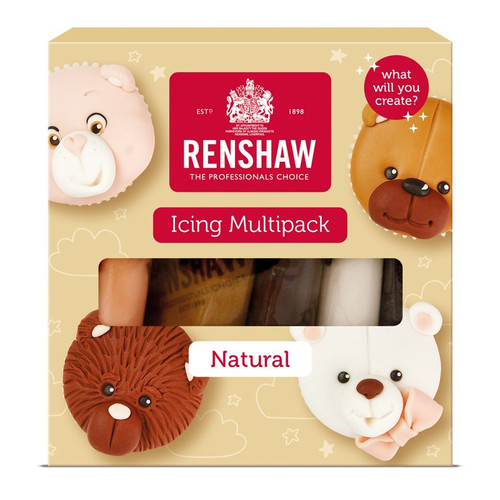 Pack of 5 natural colours sugarpaste