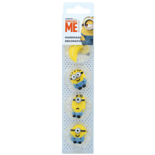 Minion icing cake toppers Pk 8