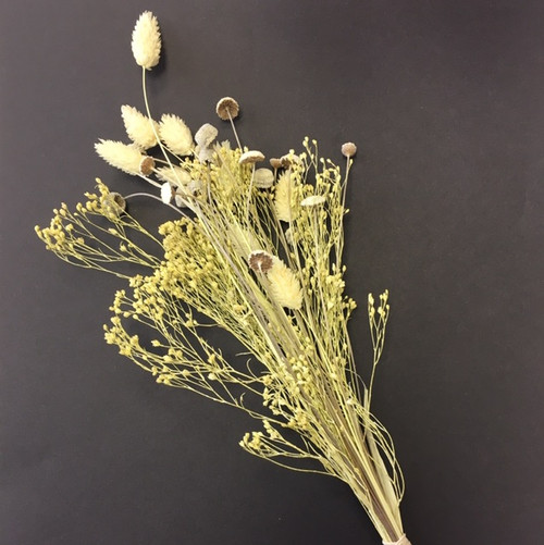 Natural and cream dried flowers