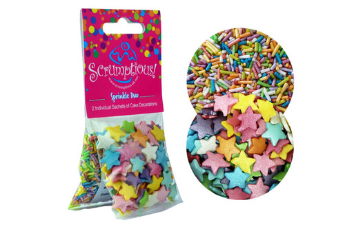 Duo Sprinkles Rainbow stars and strands
