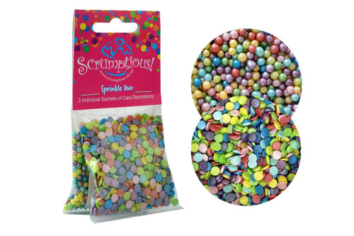 Duo Sprinkles Rainbow pearls and confetti