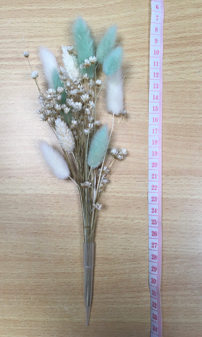 Dried flowers. Wild blue and cream