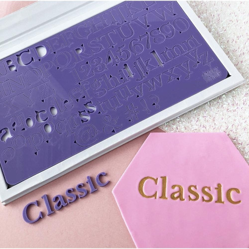 Sweet stamp Letter embossing set. Classic