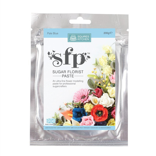 Squires Kitchen sugar florist paste pale blue 200g