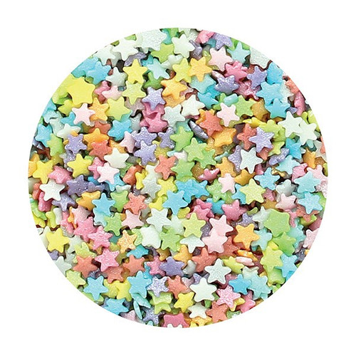 Edible multi-coloured teeny stars