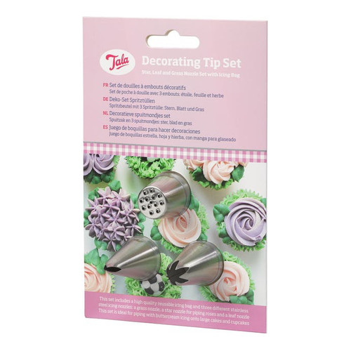 decorating nozzle set with icing bag