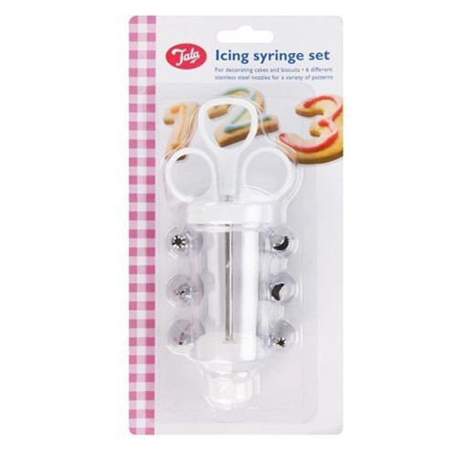 Plastic icing syringe and 6 nozzles