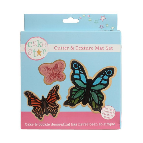 Butterfly cutter and texture mat set