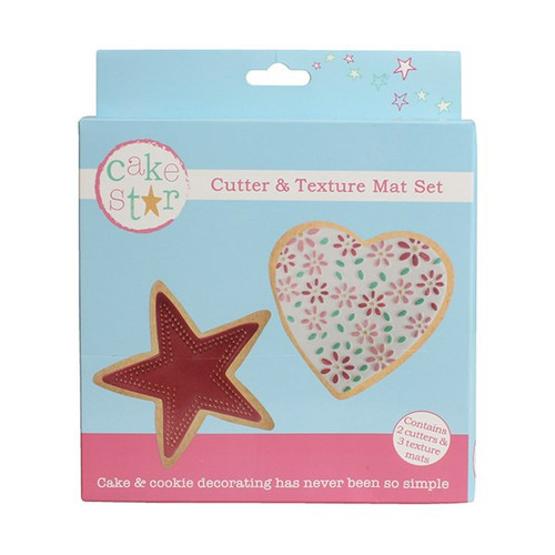 Heart and star cutter and mat set