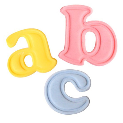 Push easy lower case alphabet cutters
