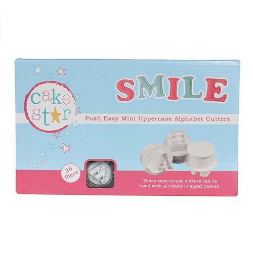 Push easy mini uppercase alphabet cutters