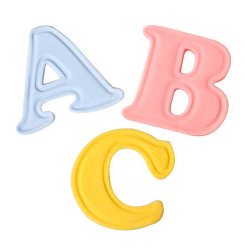 Push easy upper case alphabet cutters