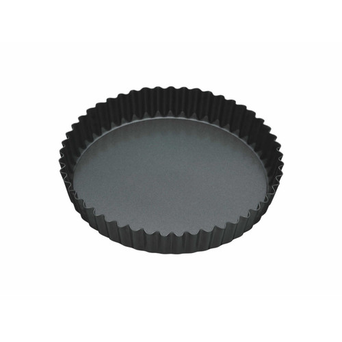 Non stick round fluted quiched/flan tin