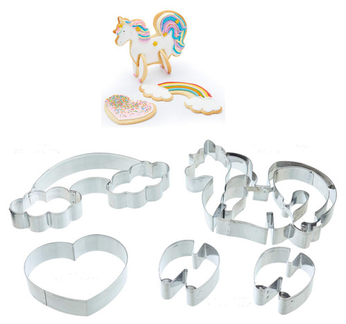 3D standing unicorn cutter set