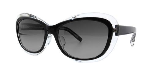 C1 Black/Clear w/ Gray Gradient Polarized Lenses