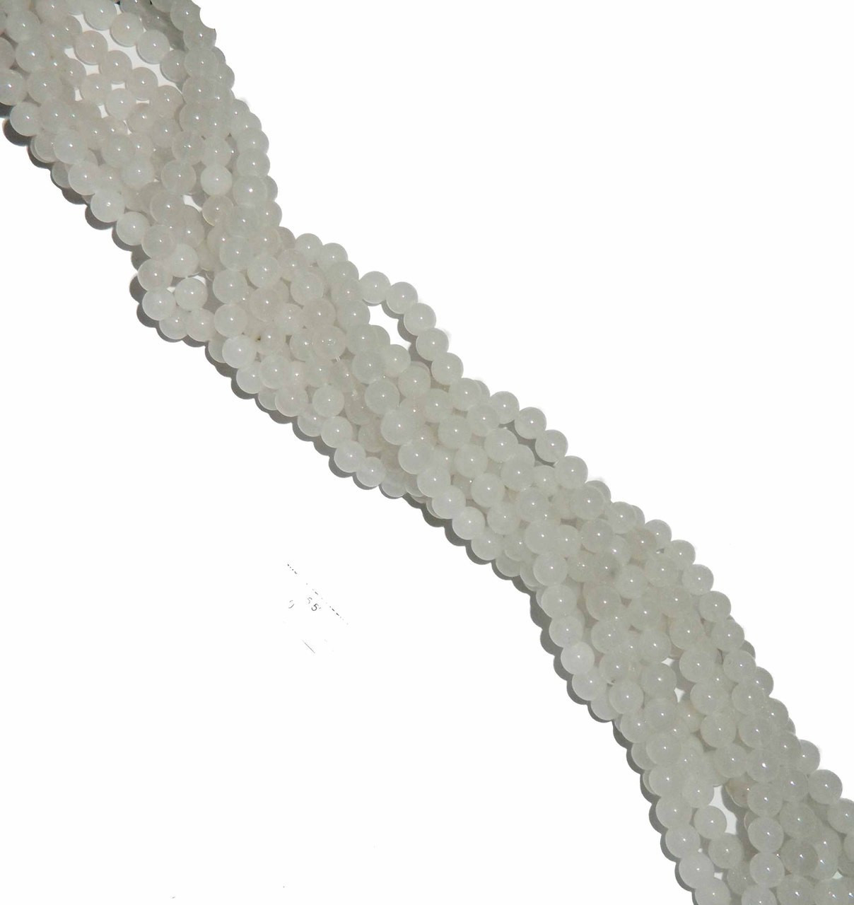 "4mm Snow Jade  Round Beads 40cm 15/"" Gemstone"