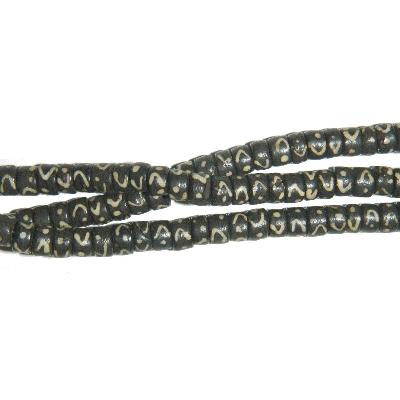 7x4mm Heishi Hand Carved Bone Beads 7