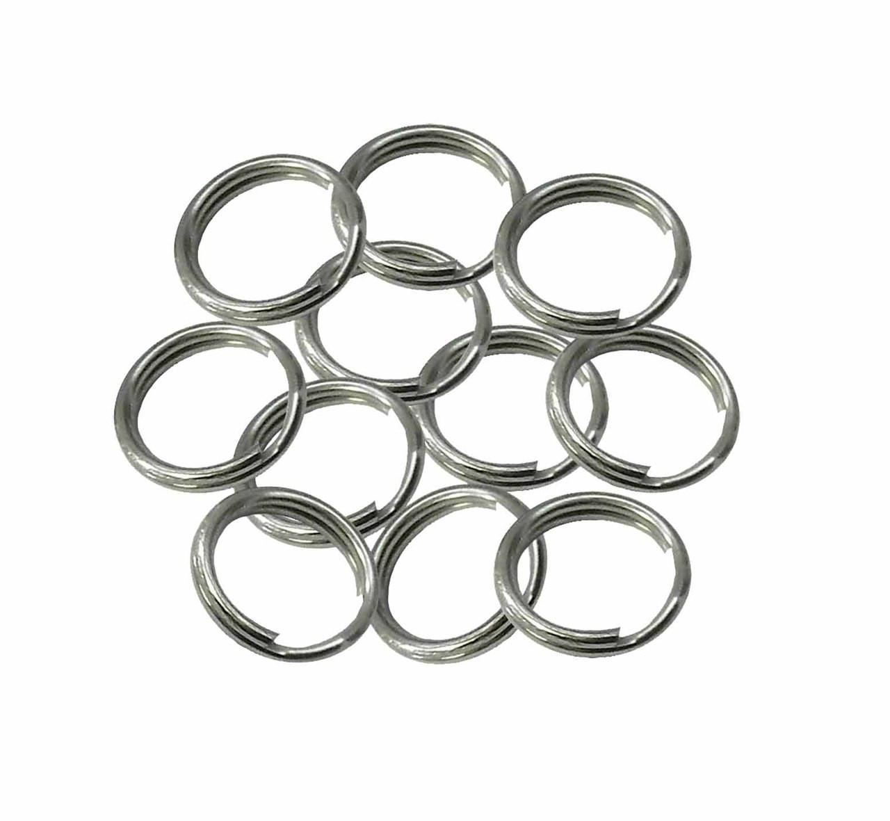 Lot Of 200 Split Key Rings 19Mm 3//4 Inch Nickel Plated Steel