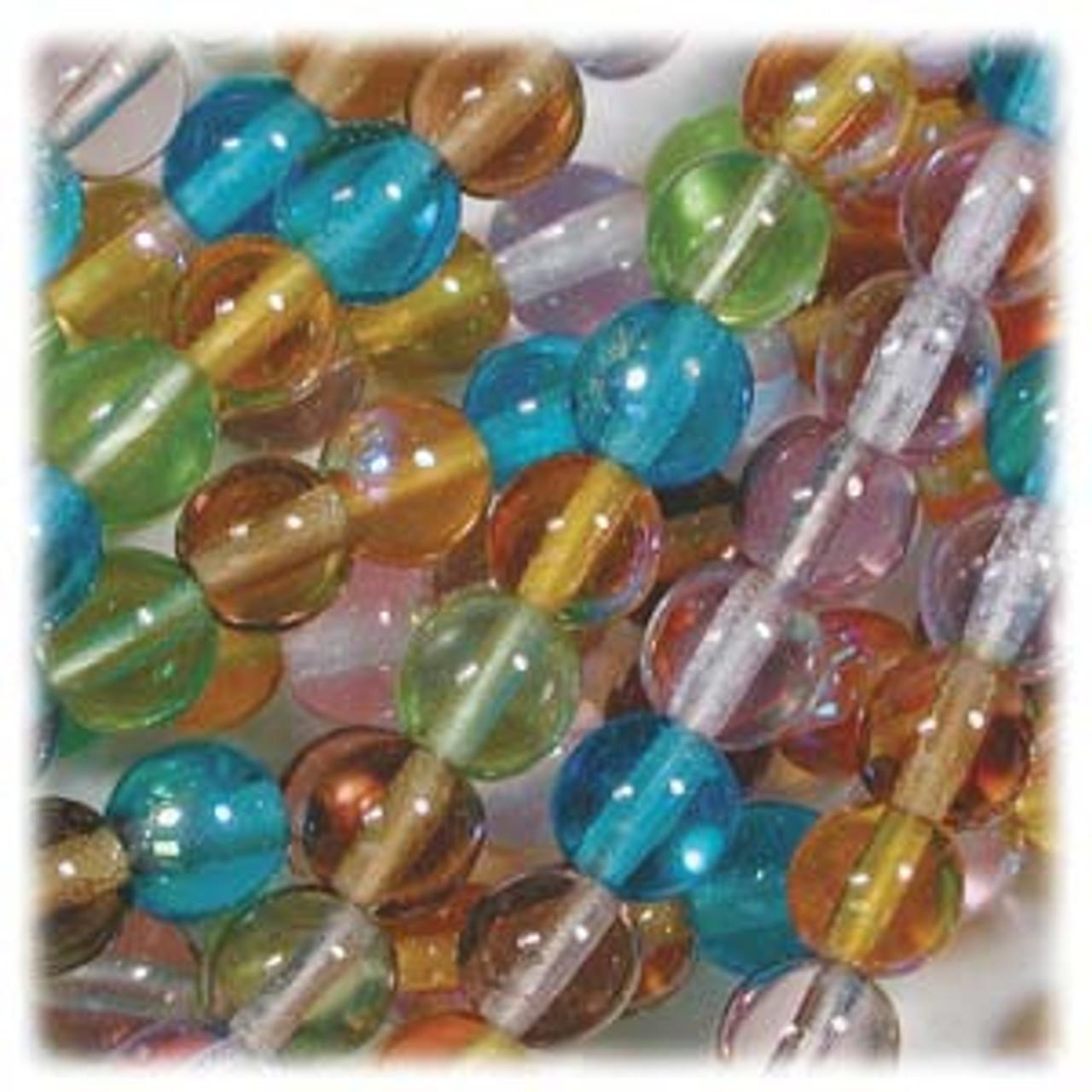 100 Czech Fire Polish 4mm beads Prarie