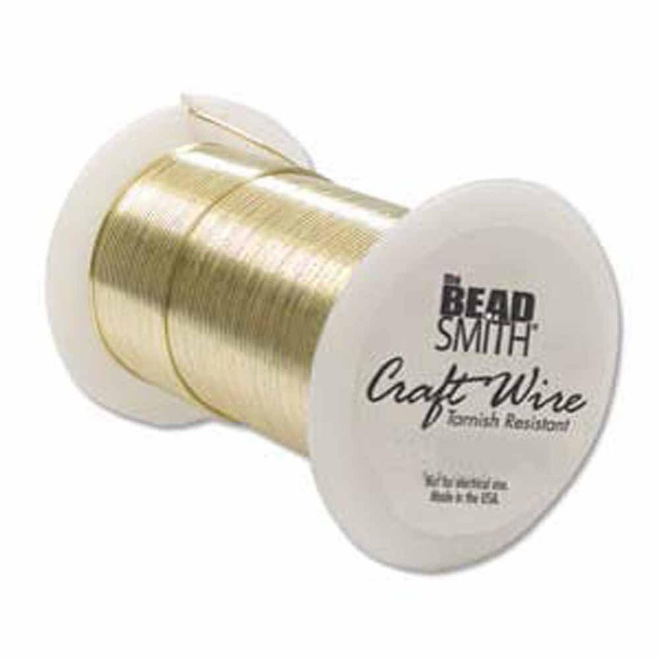 Beadsmith Craft Wire 22 Gauge Antique Copper Round Wire 15 Yards