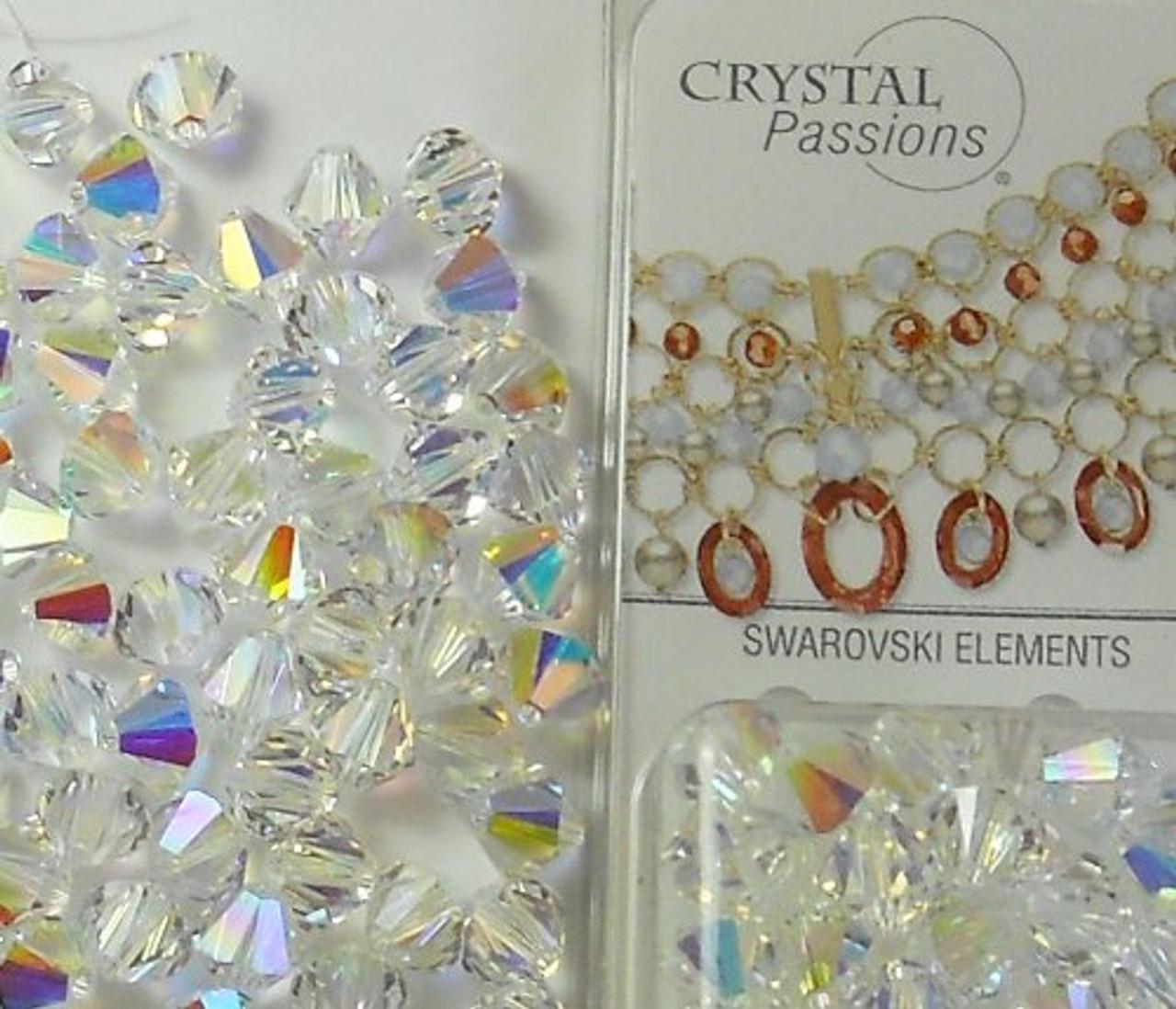6mm Clear Ab Swarovski Bicone Beads xillian 144 Piece By Crystal Passions??  Distributor Of Sswarovski Elements Crystals Made In Austria xillion Cut ...