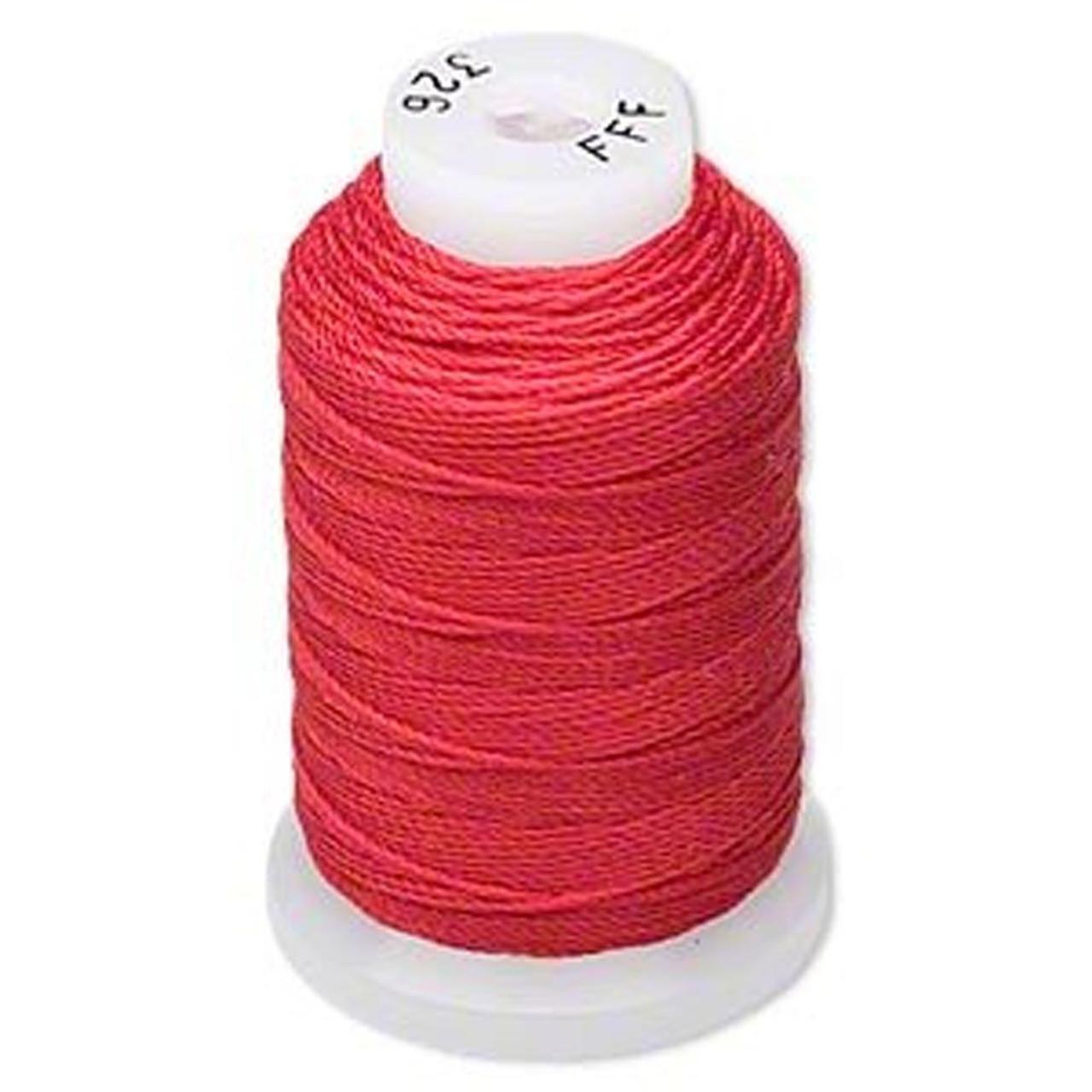 Silk Beading Thread Cord Size Fff 0 016 Inch 0 42mm Spool 92 Yd Red