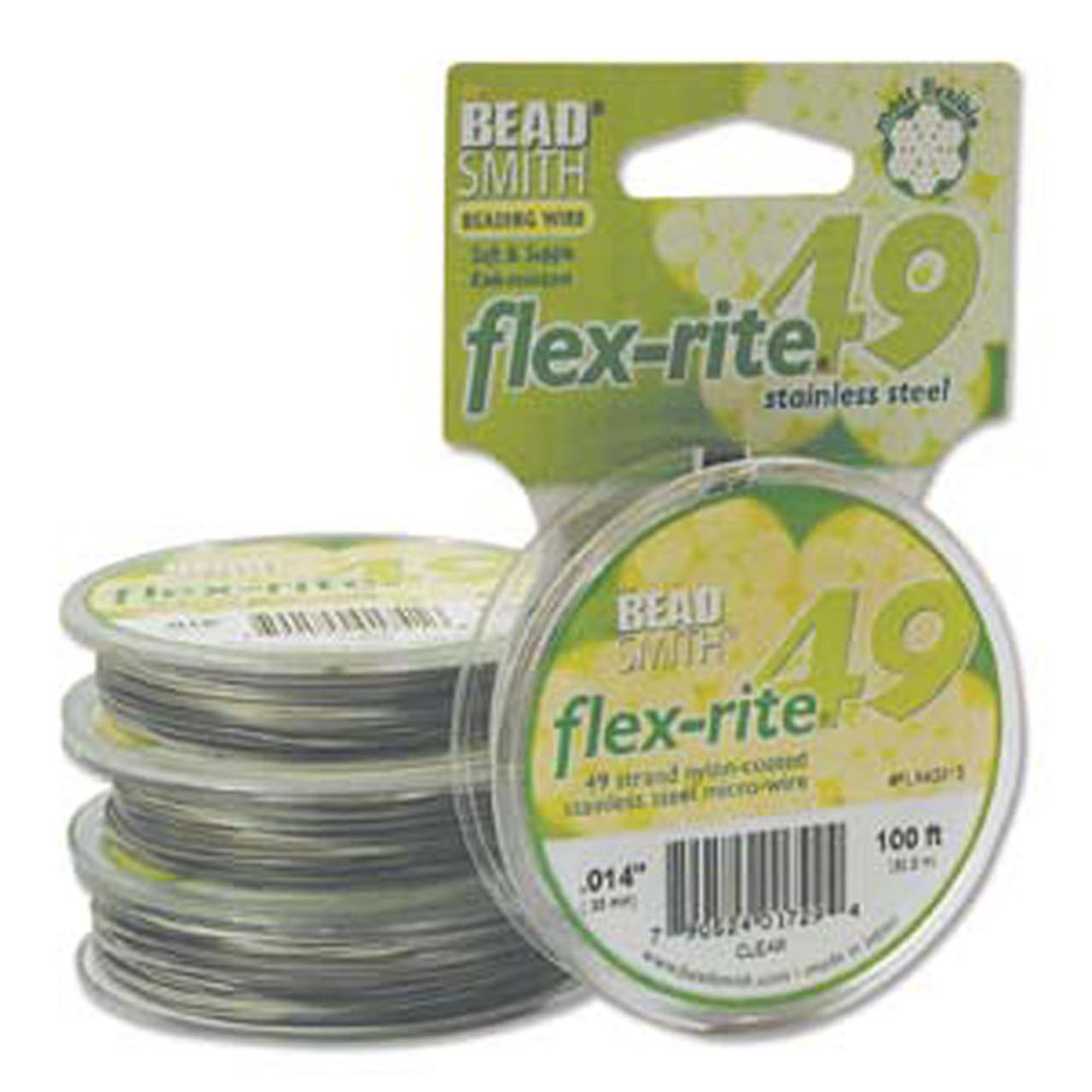 100 ft  Flex-Rite 7 Strand Bead Smith Beading Wire  Fine Medium Heavy