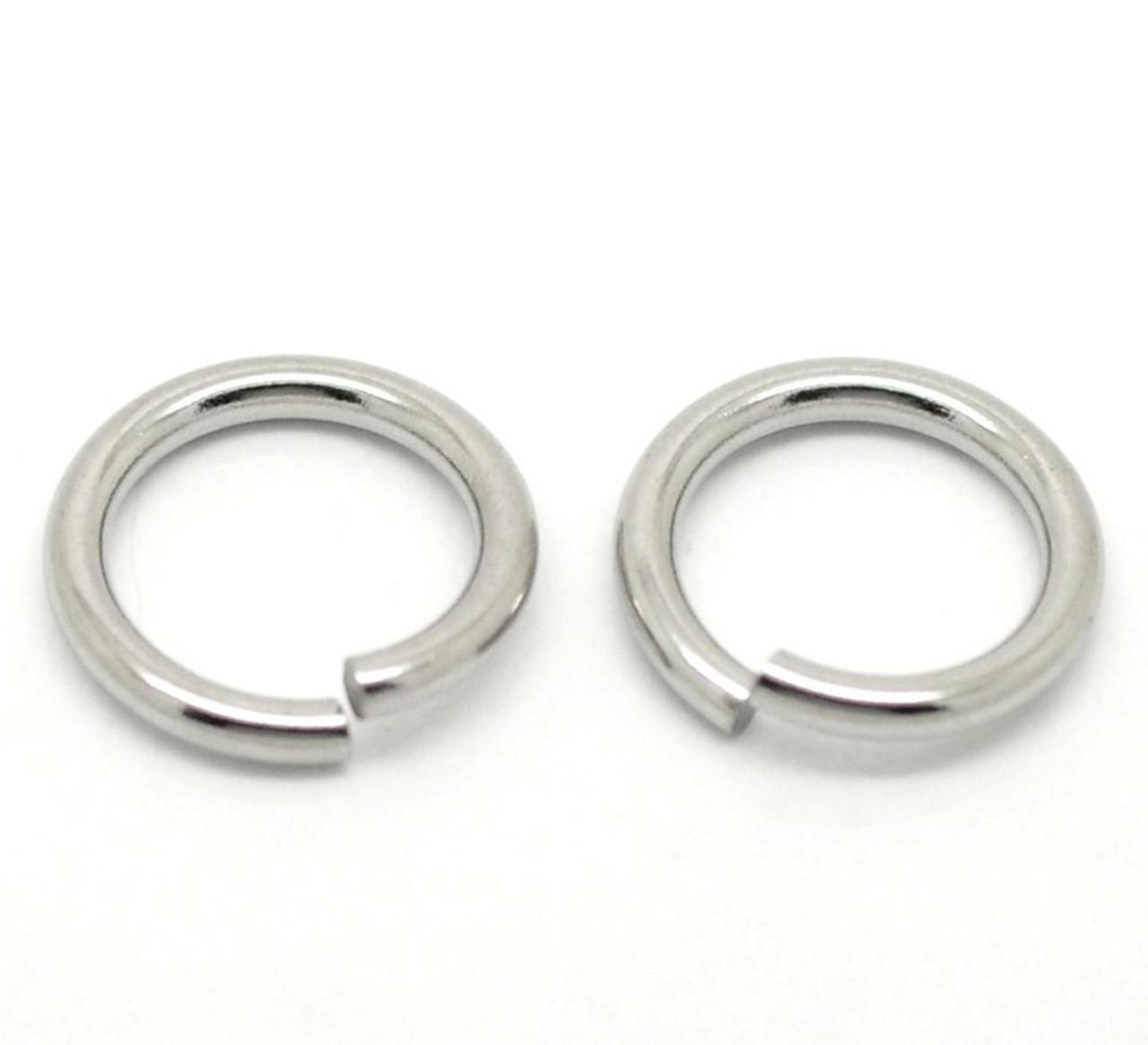 100 Split Ring Stainless Steel 6mm Round Spring Steel Thin Light Weight