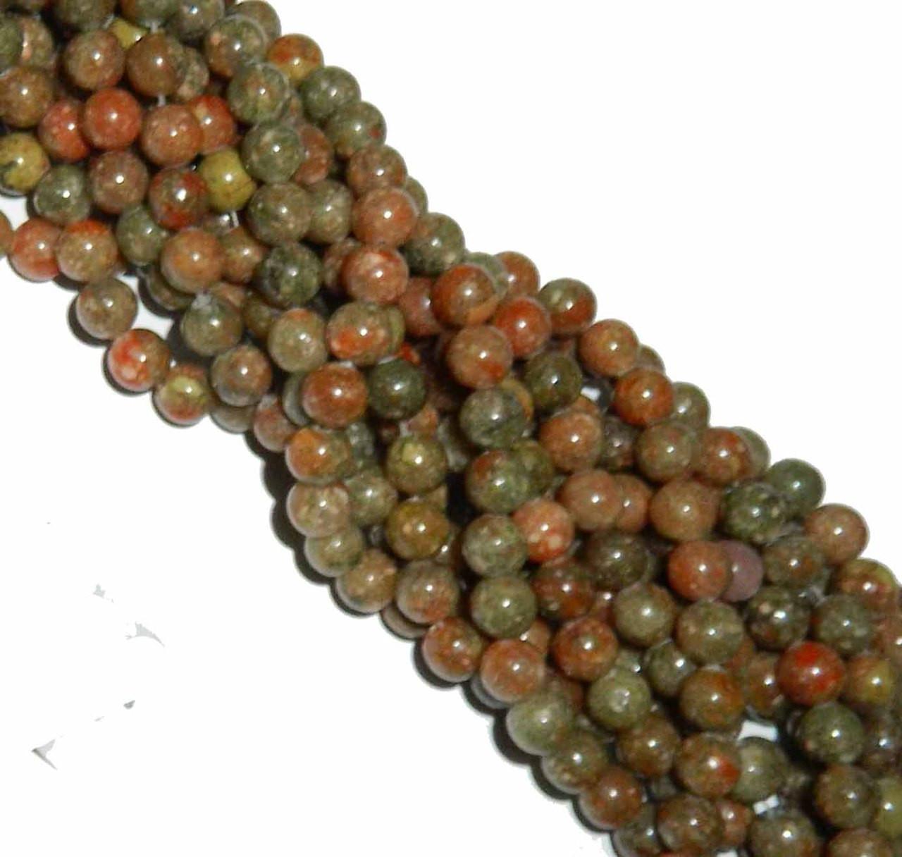 """6mm Epidot Jasper Natural  Round Beads 40cm 15/""""  Stone"""