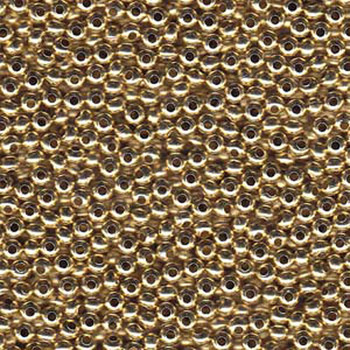 Genuine Metal Seed Beads 6/0 Yellow Brass 31 Grams Mt6-Ybrs-Tb