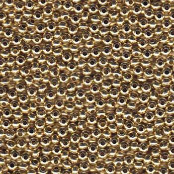 Genuine Metal Seed Beads 6/0 Yellow Brass 31 Grams Mt6-Ybrs-Tb