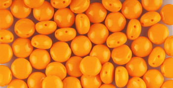 Orange Preciosa Czech Glass Candy Beads 8mm 2-Hole 20 Beads Cabachon