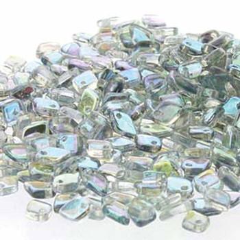 Crystal Blue Rainbow Czech Glass Dragon Scale Bead 1 5x5mm 9 5 Grams Drg398538-Tb