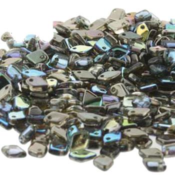 Crystal Graphite Rainbow Czech Glass Dragon Scale Bead 1 5x5mm 9 5 Grams Drg398537-Tb