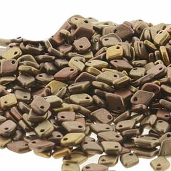 Metallic Mix Czech Glass Dragon Scale Bead 1 5x5mm 9 5 Grams Drg301610-Tb